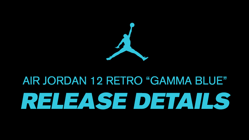 """0eada199ef0d ... official site Footlocker Unlocked to provide a release reminder and  release details for the upcoming new color way for Air Jordan XII """"Gamma  Blue""""."""