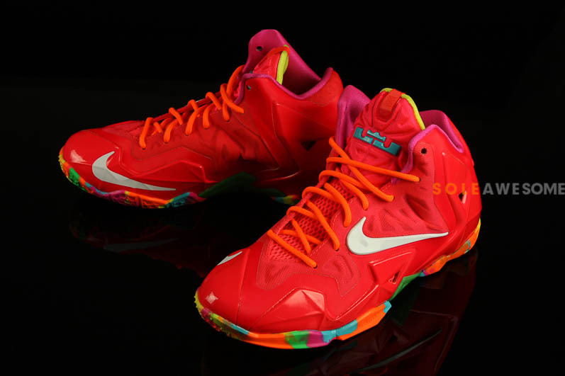 """the latest 1575f 6bcfe Nike LeBron XI GS """"Fruity Pebbles"""" – Detailed Pictures"""