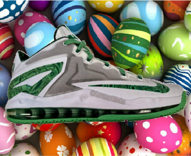 best cheap e151b 80b46 Looks like we have the first of three sneakers that will be apart of the  Nike Basketball Easter Collection in 2014. The Nike Air Max LeBron XI Low.
