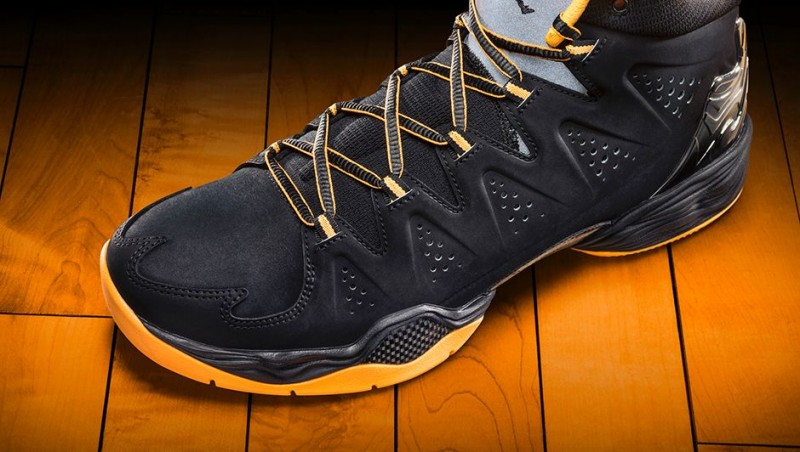 check out 39a28 7f6cf Jordan Melo M10 – Black Atomic Mango-Wolf Grey –  165