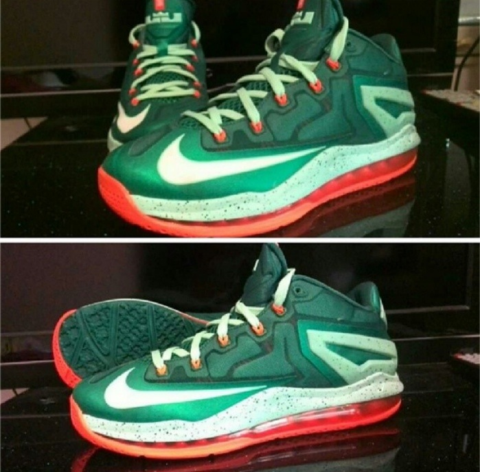 "cheap for discount 60891 5efbb 20140521-224842.jpg. The ""Turbo Green"" colorway of the Nike LeBron 11 Low  ..."