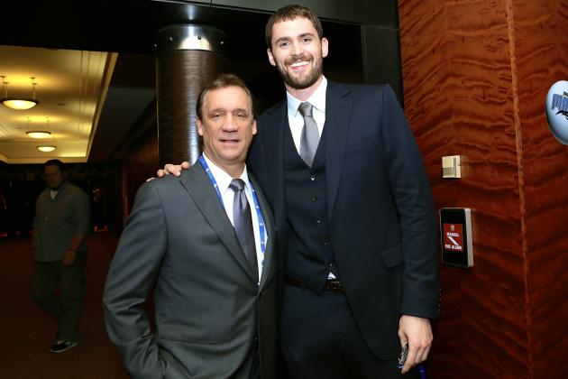 Flip Saunders and Kevin Love