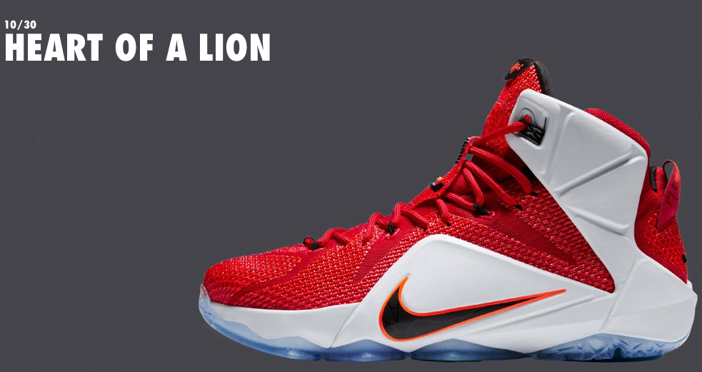low priced 95253 8302a Another color way we have seen plenty of and my personal favorite, Nike  LeBron 12  Heart Of A Lion . Following in the footsteps of the  NSRL  this  color way ...