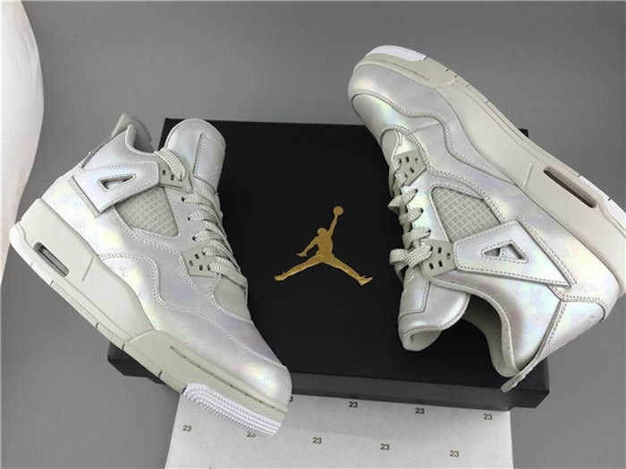 more photos 3605f 4ff8f ... Air Jordan 4 Retro  Pearl  GG - Detailed Pictures + Release Date ...