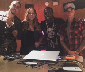 Mariah Carey French Montana Justin Bieber