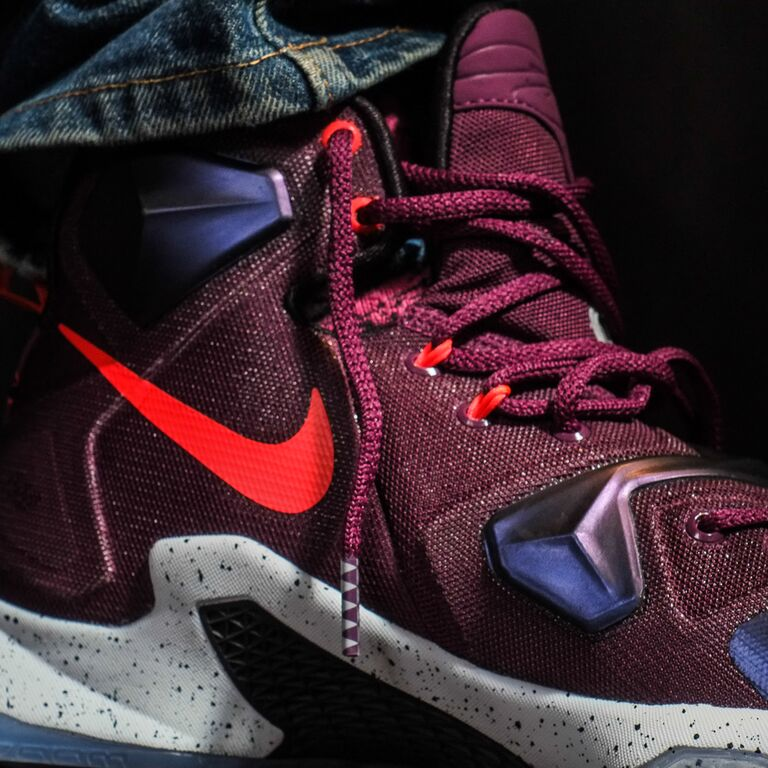 b42e04df7c0 Nike LeBron 13  Mulberry  - On Feet Pictures