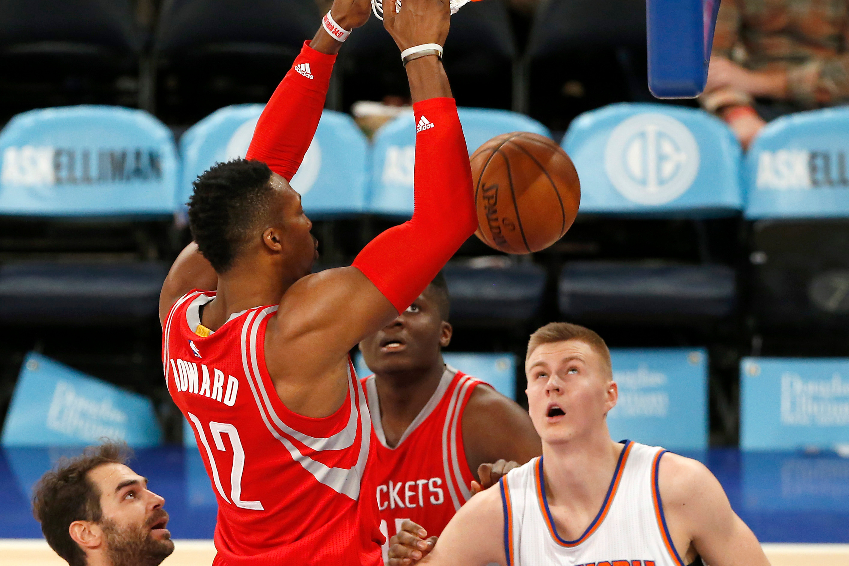 18ca7a494671 Kristaps Porzingis After Getting Posterized By Dwight Howard