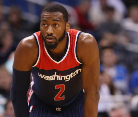 Dec 10, 2014; Orlando, FL, USA; Washington Wizards guard John Wall (2) against the Orlando Magic during the second half at Amway Center. Washington Wizards defeated the Orlando Magic 91-89. Mandatory Credit: Kim Klement-USA TODAY Sports