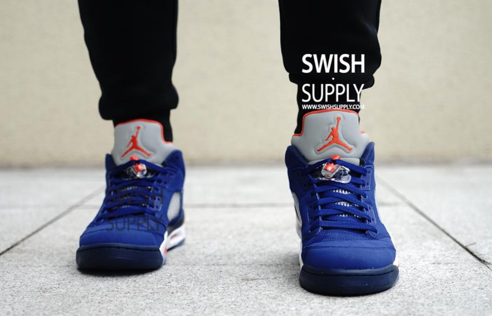 pretty nice 7349f a6ac6 air-jordan-5-low-new-york-knicks-on-feet-1