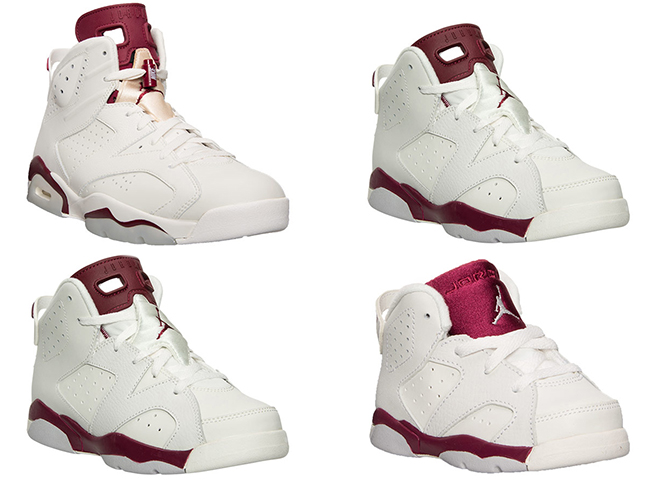 release date: a1b75 c8346 Air Jordan 6 Retro 'Maroon' Releasing For The Whole Family ...