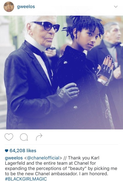 Willow Smith and Karl Lagerfeld