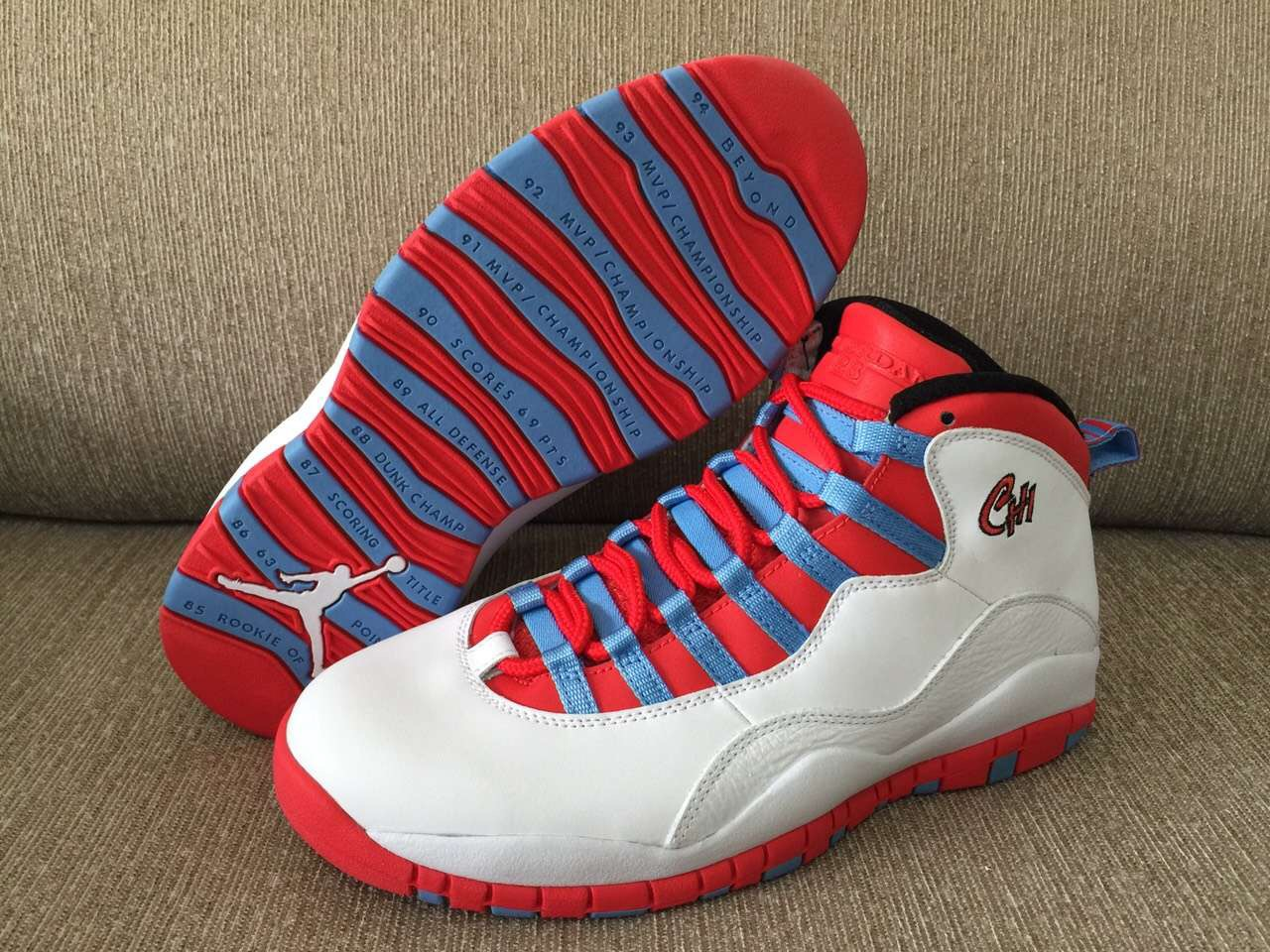 8728ce9bf28 Air Jordan 10 Retro 'Chicago' Inspired By City's Flag | Def Pen