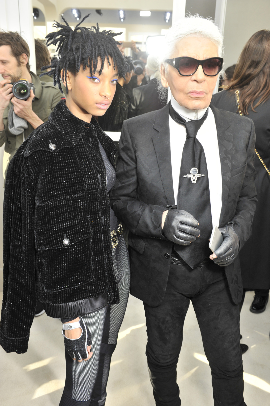 Willow and Karl Lagerfeld