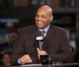 NEW YORK CITY - OCTOBER 29: TNT analyst Charles Barkley laughs as the NBA season tips off as TNT broadcasts outside the Flatiron Building on October 29 , 2013 in New York. NOTE TO USER: User expressly acknowledges and agrees that, by downloading and or using this photograph, User is consenting to the terms and conditions of the Getty Images License Agreement. Mandatory Copyright Notice: Copyright 2012 NBAE  (Photo by Steven Freeman/NBAE via Getty Images)