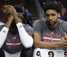The 76ers will reportedly move Jahlil Okafor or Nerlens Noel before the 2016-2017 season, but should they move either of them? Image: AP