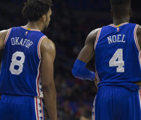 Nerlens Noel and Jahlil Okafor Getty Images