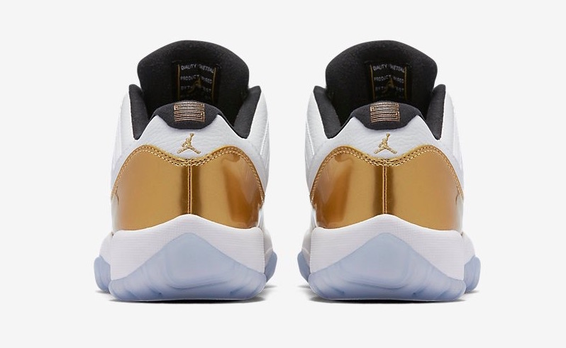 1185d48d313b Air Jordan 11 Low  White Gold  Latest Detailed Pictures