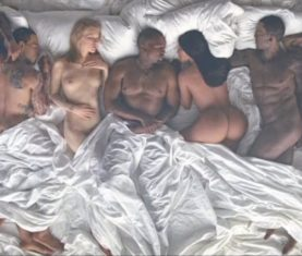kanye Famous music video