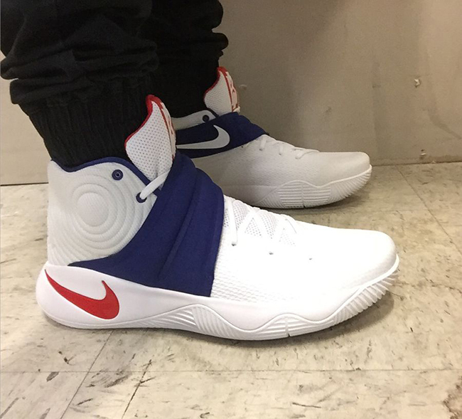 quality design 45157 0be9a nike-kyrie-2-usa-4th-july-on-feet- ...