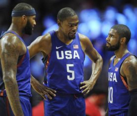 DeMarcus Cousins, Kevin Durant, Kyrie Irving (Gary A. Vasquez/USA Today Sports)