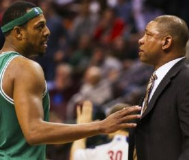 Doc Rivers and Paul Pierce (Howard Smith/USA TODAY Sports)