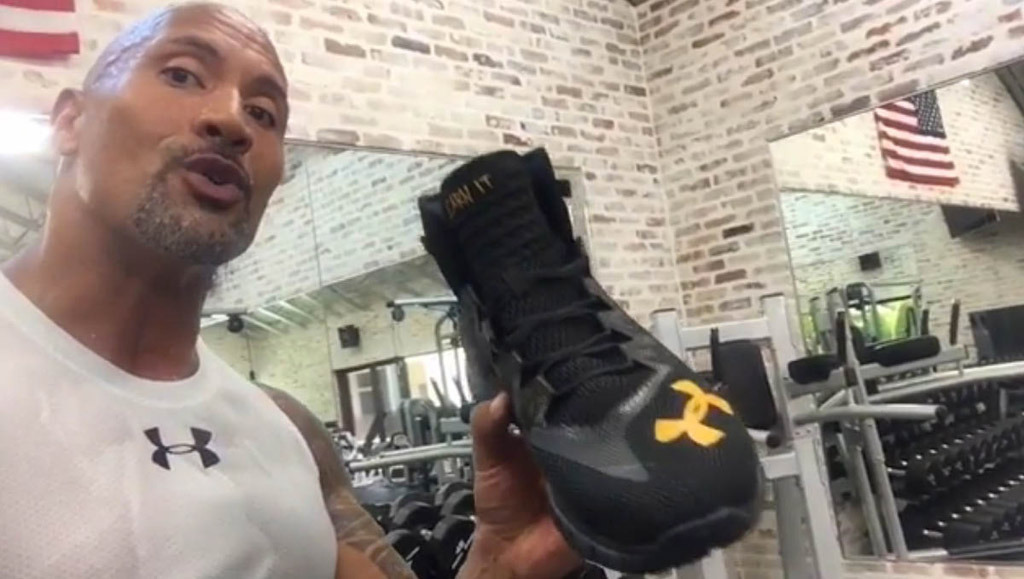 timeless design 6c99e f556f The Rock Under Armour Sneaker