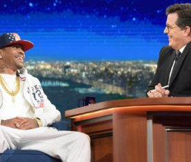 Allen Iverson with Stephen Colbert (CBS)