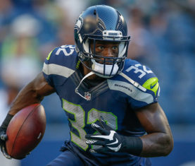SEATTLE, WA - AUGUST 18:  Running back Christine Michael #32 of the Seattle Seahawks warms up prior to the game against the Minnesota Vikings at CenturyLink Field on August 18, 2016 in Seattle, Washington.  (Photo by Otto Greule Jr/Getty Images) *** Local Caption *** Christine Michael