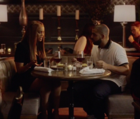 Tyra Banks with Drake in 'Childs Play' (Apple Music)