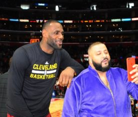 LeBron James and DJ Khaled (Photo by Juan O'Campo/NBAE via Getty Images)