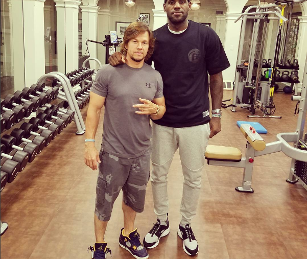 Mark Wahlberg and LeBron James (King James / Instagram)