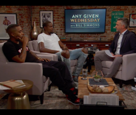 Nas and Kevin Durant on Bill Simmons' show 'Any Given Wednesday' (HBO)
