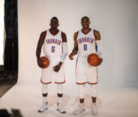 Victor Oladipo and Russell Westbrook (Zach Beeker | OKC Thunder)