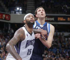 DeMarcus Cousins / Dirk Nowitzki (Photo by Rocky Widner/NBAE via Getty Images)