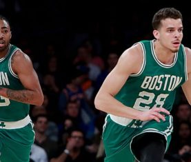 James Young and R.J. Hunter (Photo by Michael Reaves/Getty Images)