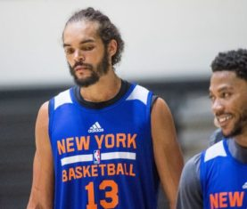 Joakim Noah and Derrick Rose ( Photo Credit: Andrew Theodorakis / Newsday)