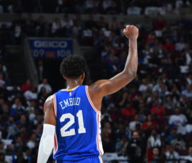 Joel Embiid (Photo by Jesse D. Garrabrant/NBAE via Getty Images)