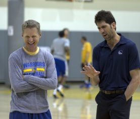 Steve Kerr and Bob Myers (D. Ross Cameron/Bay Area News Group)
