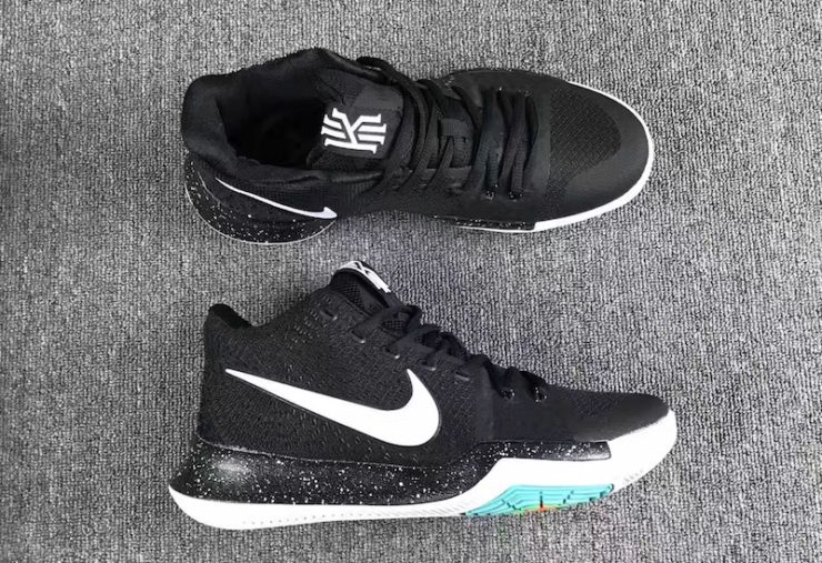 online store a6096 3da14 Detailed Pictures of Nike Kyrie 3 in Black  White Releasing Christmas Eve