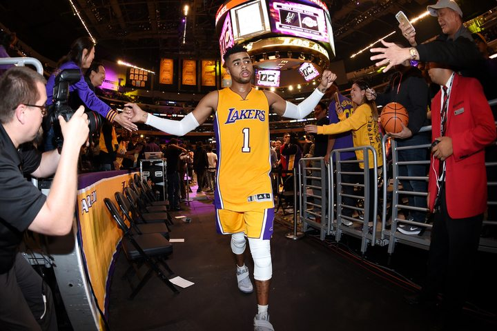 D'Angelo Russell (Photo by Andrew D. Bernstein/NBAE via Getty Images)