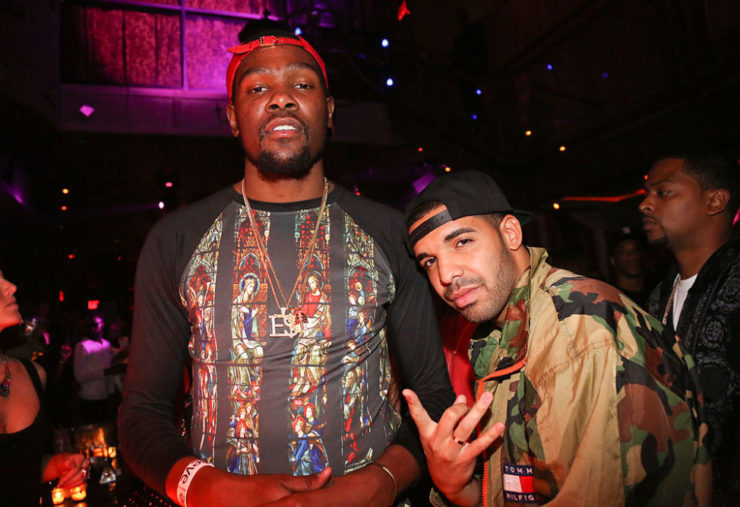 Kevin Durant and Drake (Photo by Johnny Nunez/WireImage)