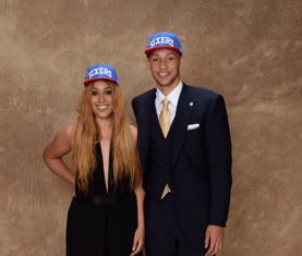 Olivia Simmons and Ben Simmons (Photo via NBAE / Getty Images)