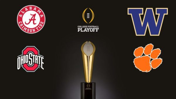 college playoff teams saturday football