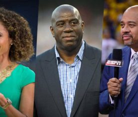 Sage Steele, Magic Johnson, Michael Wilbon (ESPN)