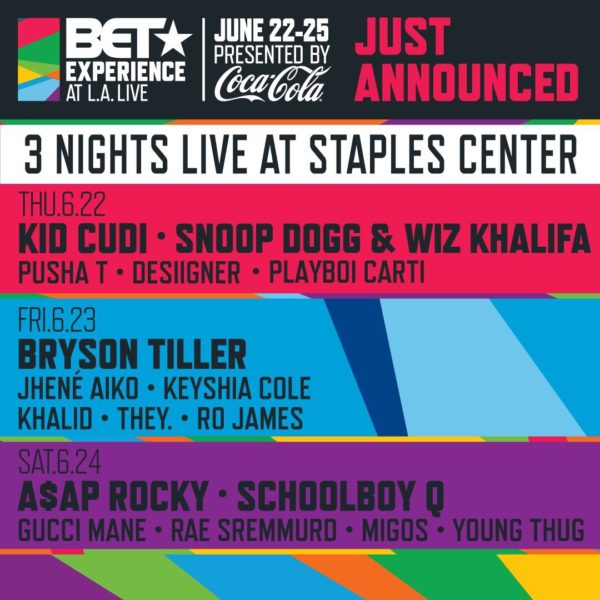 BET Experience Staples Center Lineups