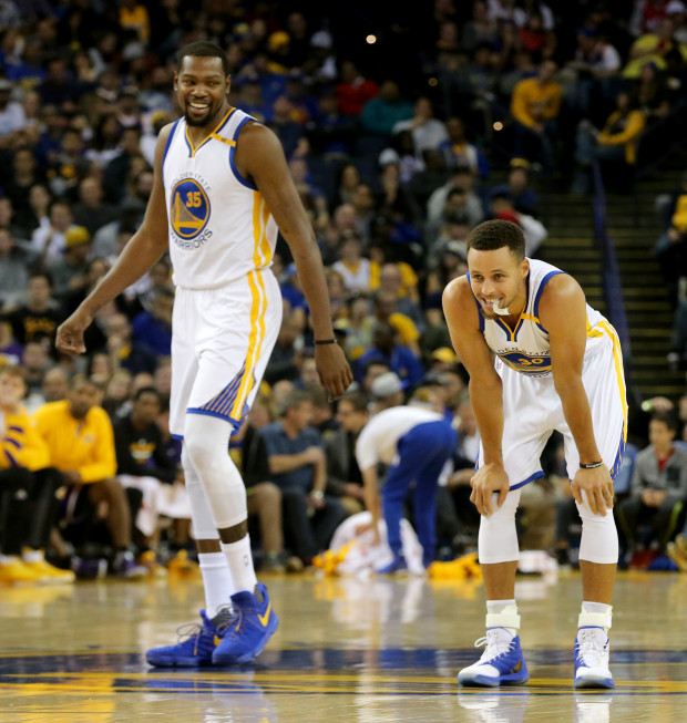 6190c6f62a6 Kevin Durant and Steph Curry. (Photo  Ray Chavez Bay Area News Group  Archives)