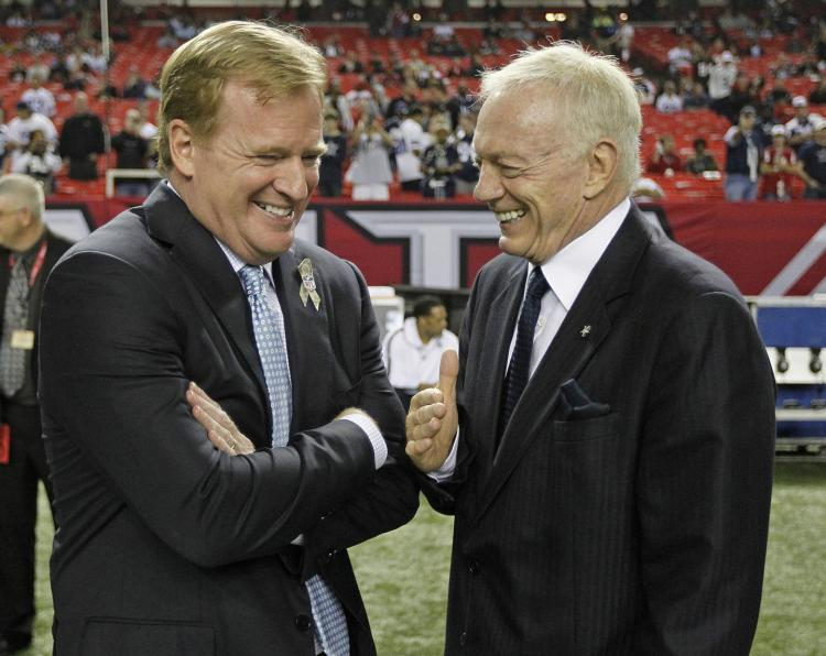 Jerry Jones, Roger Goodell