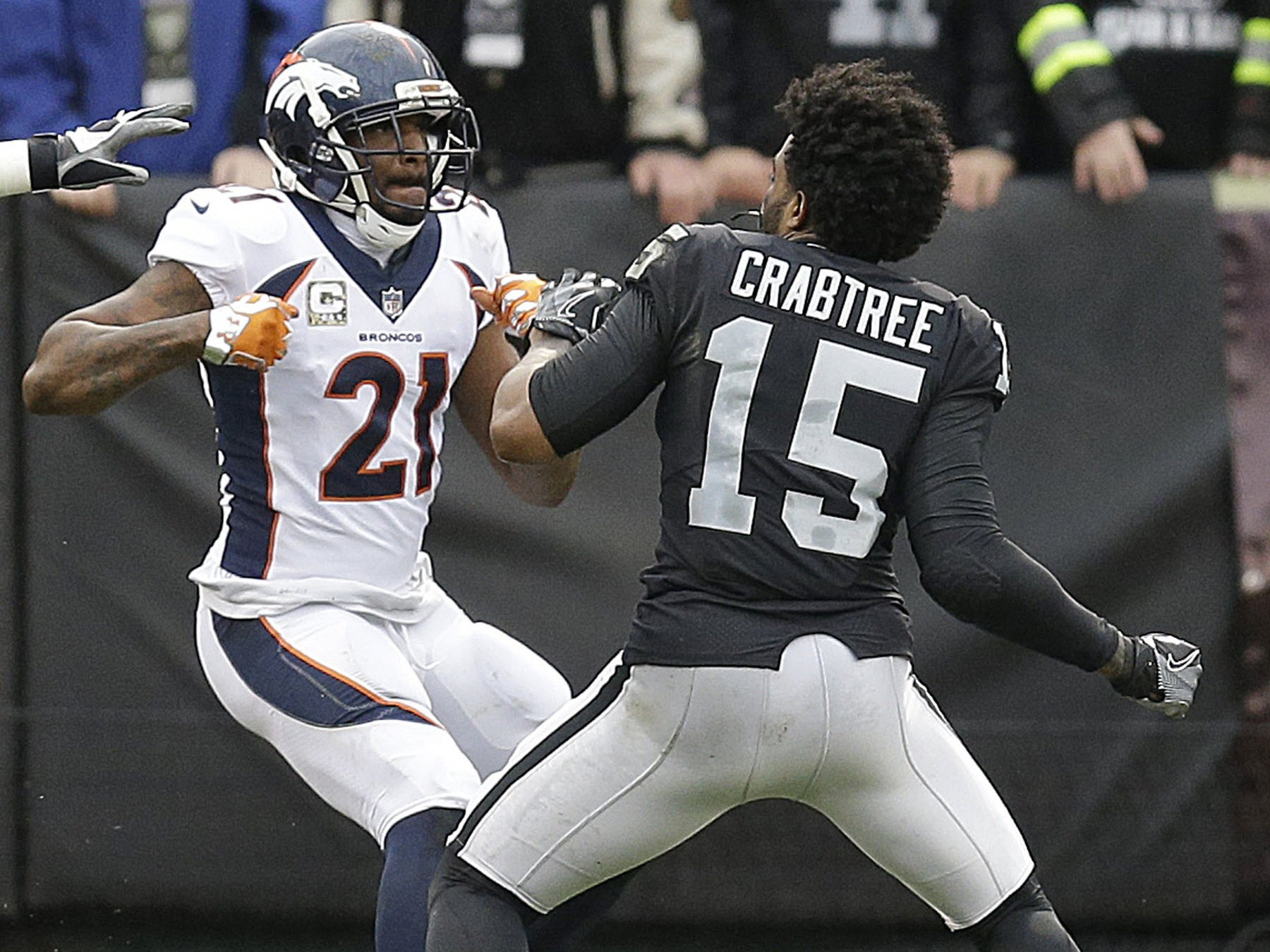 Broncos and Raiders Players Fight